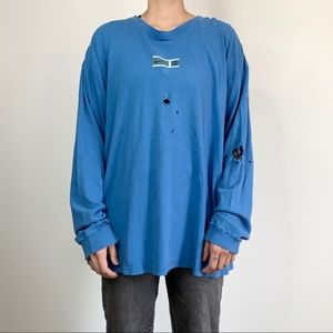 Vintage 90s Distressed Nike Long Sleeve Shirt